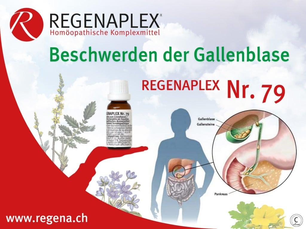 REGENAPLEX Nr 79 - Beschwerden der Gallenblase
